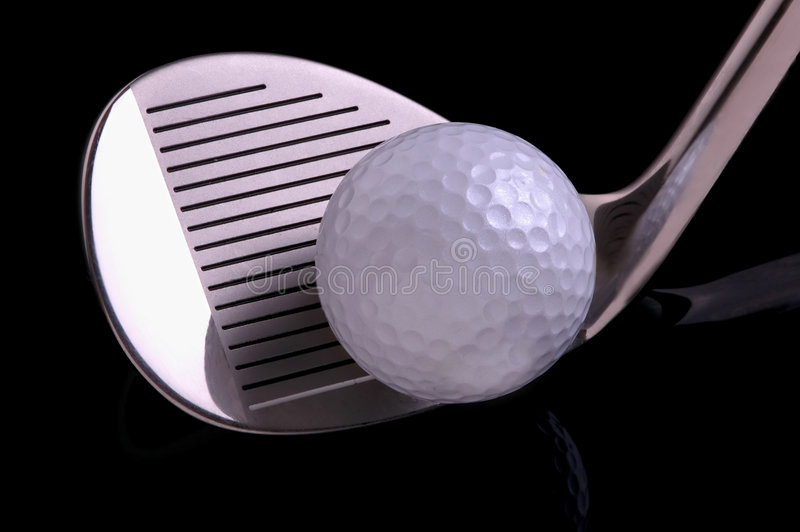 Sfera di golf & Cluub immagini stock