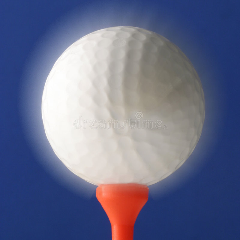 Sfera Di Golf D Ardore Fotografie Stock