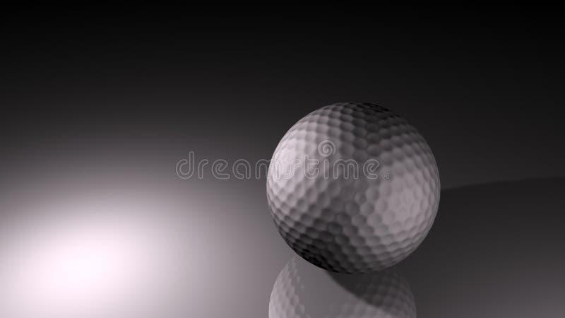 Sfera di golf d'argento della priorità bassa fotografia stock
