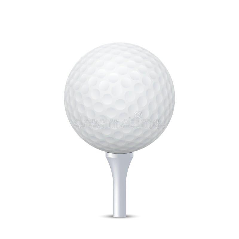 Sfera di golf di vettore sul T illustrazione vettoriale