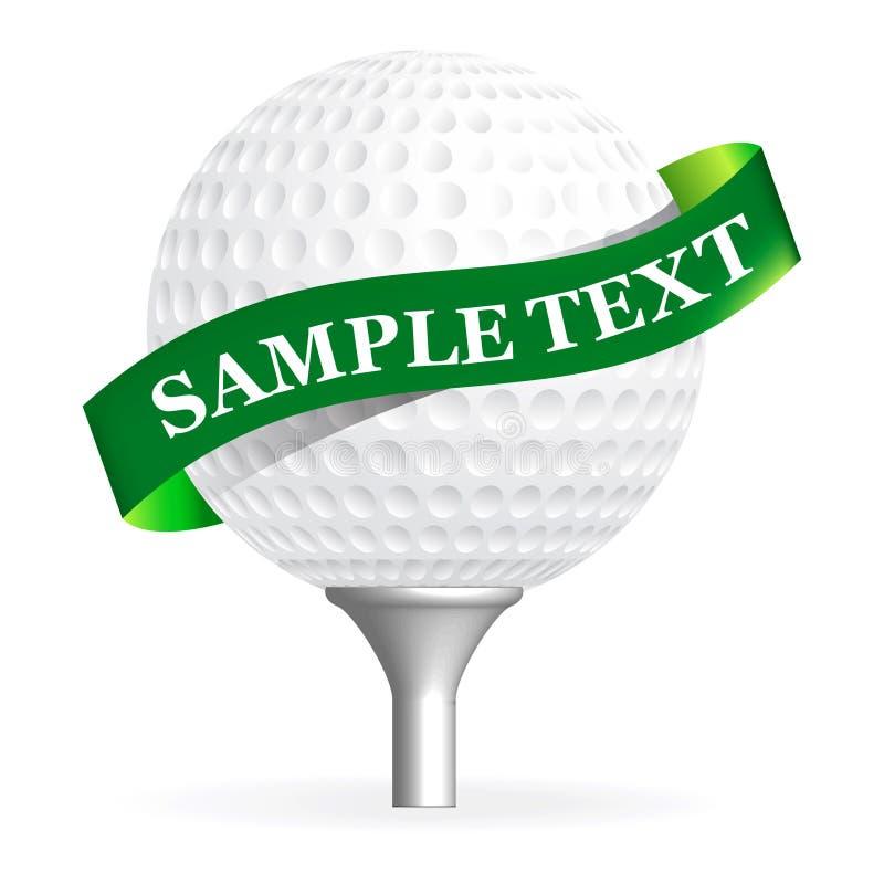 Sfera di golf isolata su bianco royalty illustrazione gratis