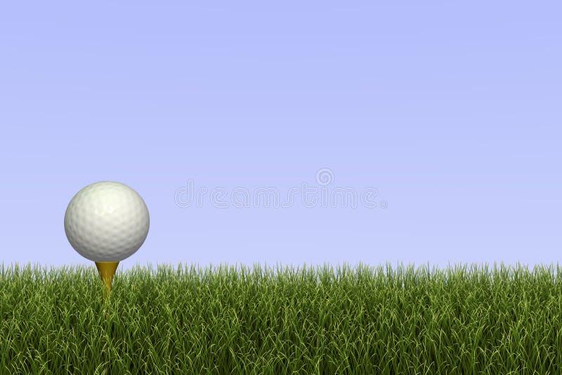 Sfera di golf sul T royalty illustrazione gratis
