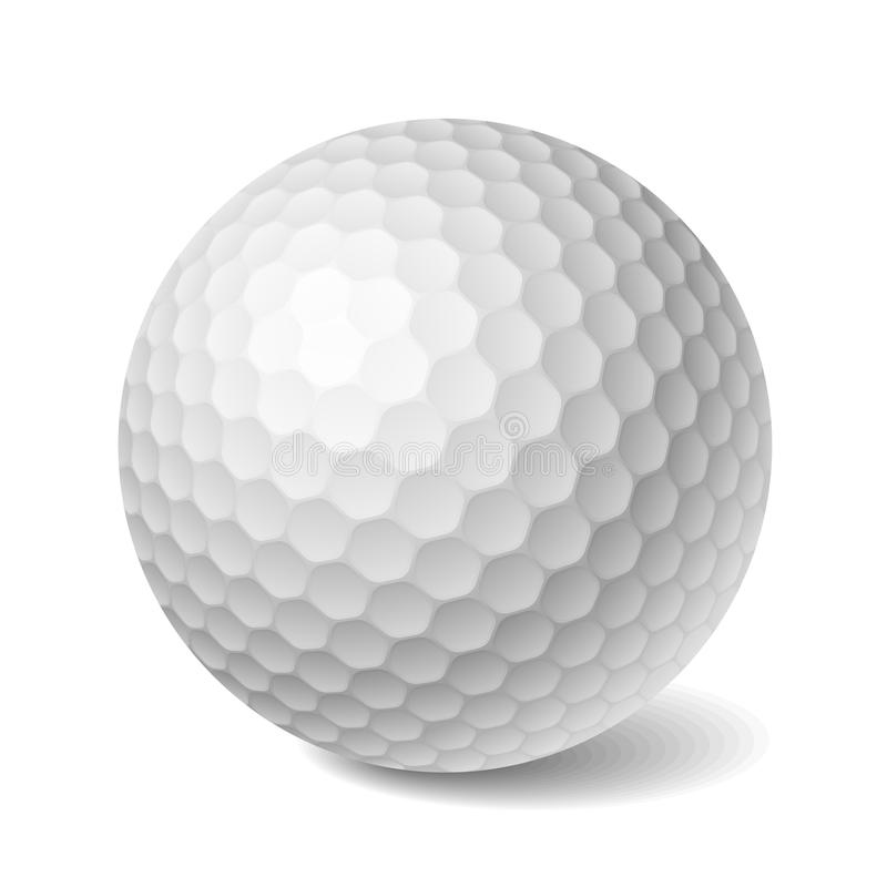 Sfera di golf. Vettore. illustrazione di stock
