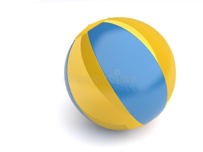 sfera di spiaggia 3d