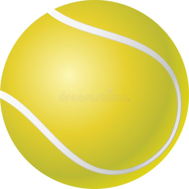 Sfera di tennis illustrazione di stock