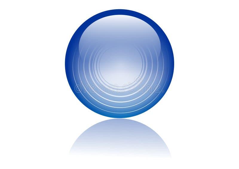 Sfera di vetro illustrazione di stock