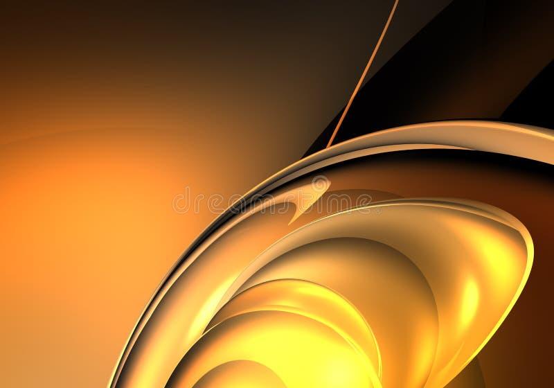 Sfera dorata 02 illustrazione di stock