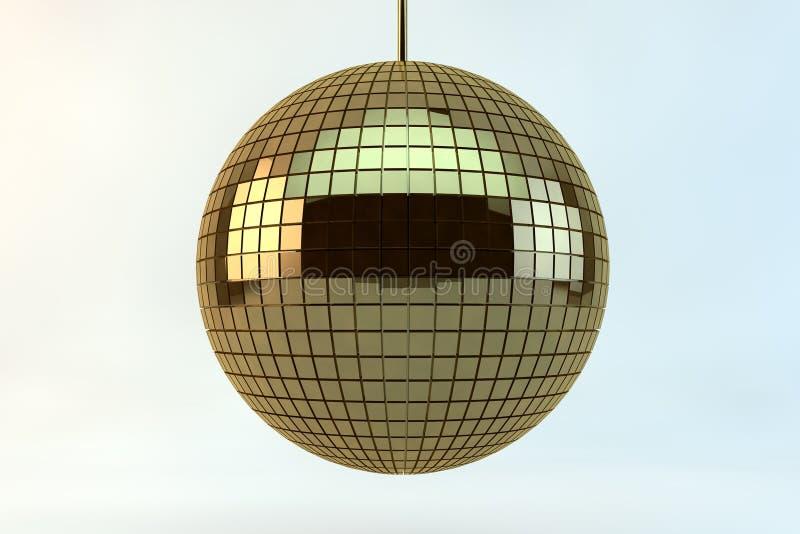 Sfera dorata della discoteca illustrazione di stock