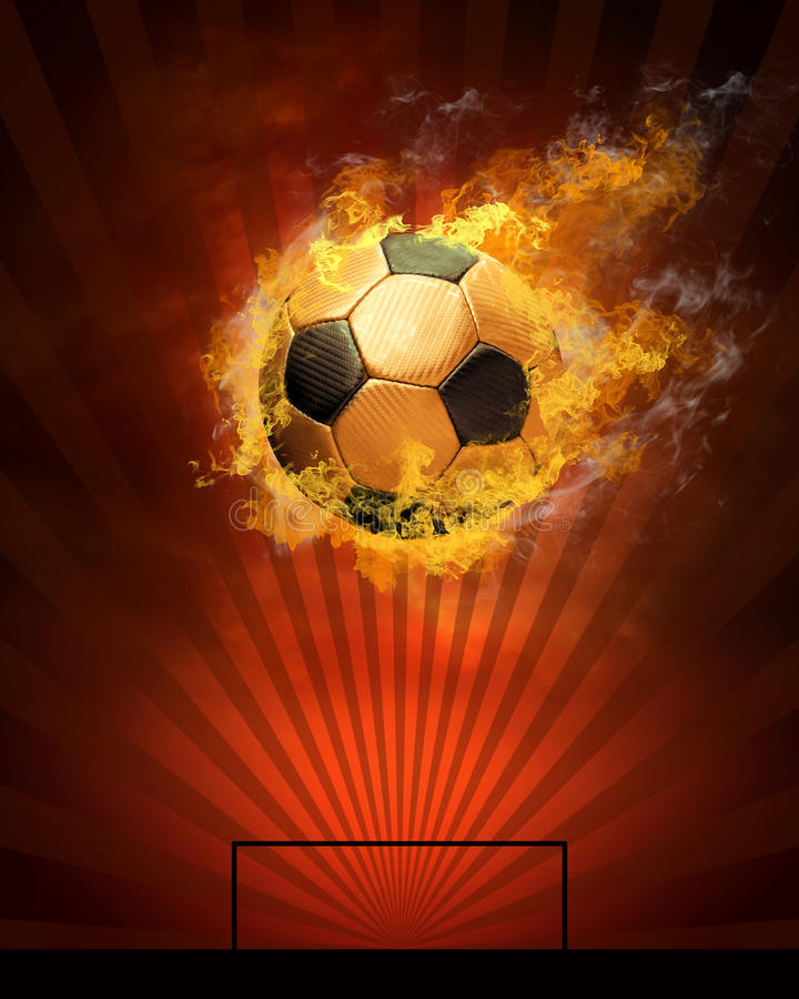 Sfera e fuoco di calcio