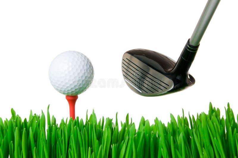 Sfera e randello di golf fotografie stock libere da diritti