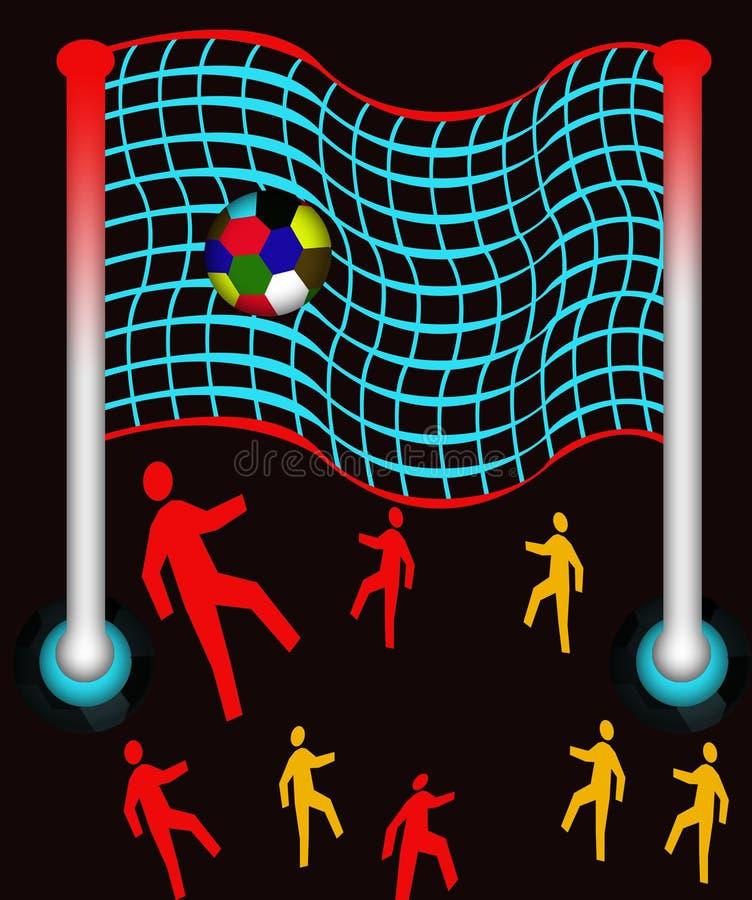 Download Sfera e rete del piede illustrazione di stock. Illustrazione di giocatore - 7305470