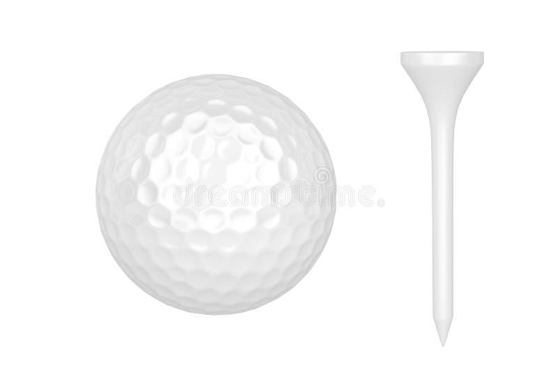 Sfera e T di golf illustrazione di stock
