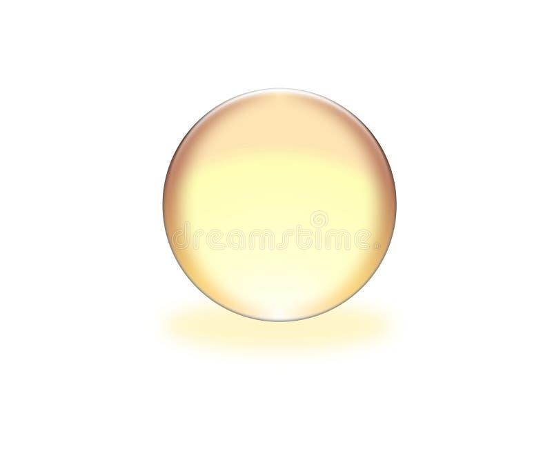 sfera gialla 3d illustrazione di stock