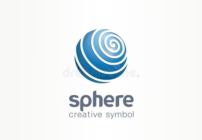 Sfera interneta symbolu kreatywnie pojęcie Kuli ziemskiej sieci komunikacyjnej sieci biznesu abstrakcjonistyczny logo Digital zie ilustracja wektor