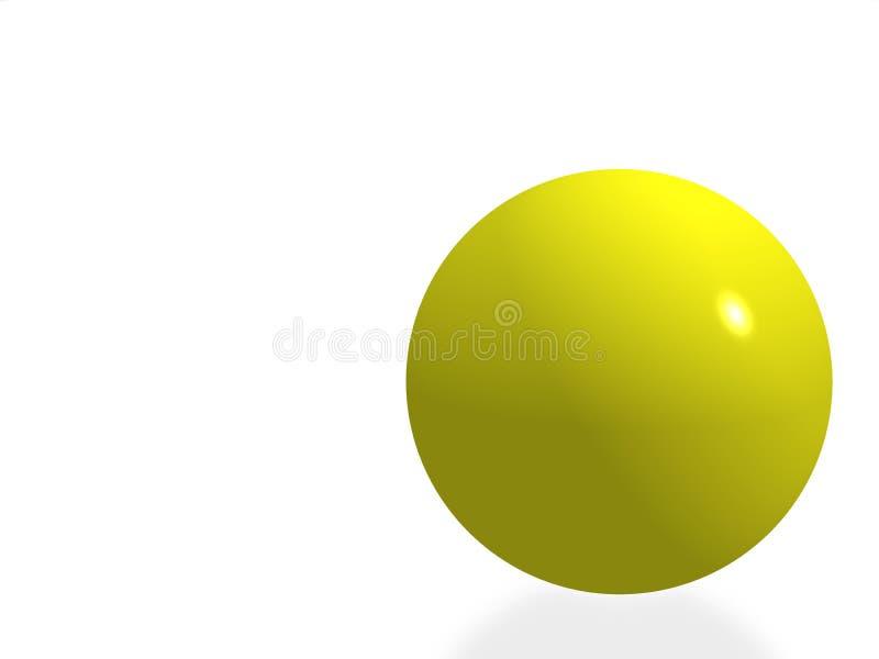 Sfera isolata colore giallo royalty illustrazione gratis