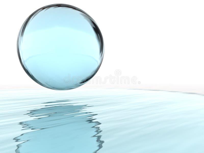 Sfera liquida illustrazione vettoriale