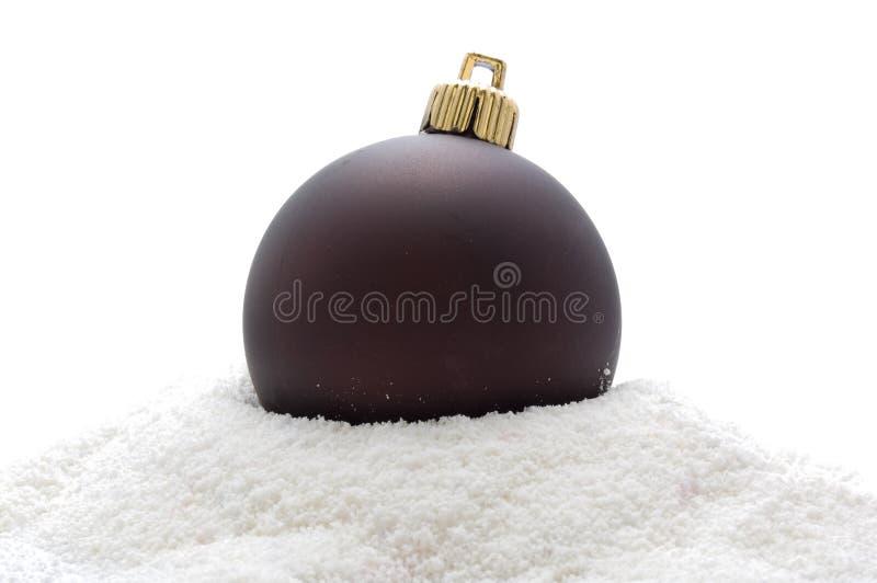 Download Sfera Marrone-scuro Di Natale Fotografia Stock - Immagine di figura, dicembre: 7303068