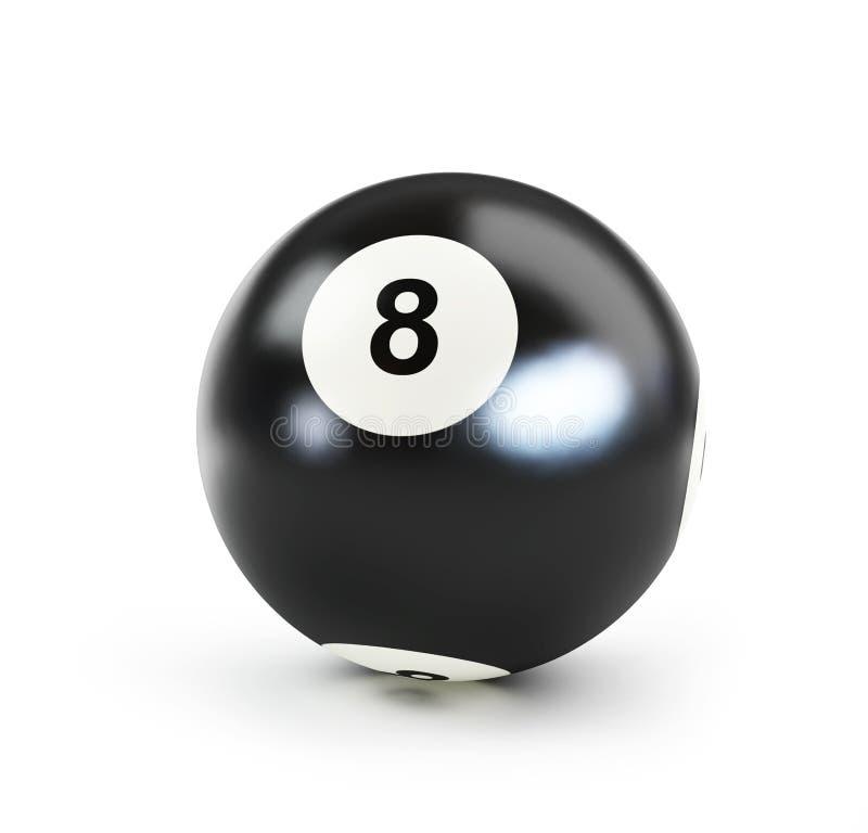 Sfera nera numero otto del raggruppamento illustrazione di stock