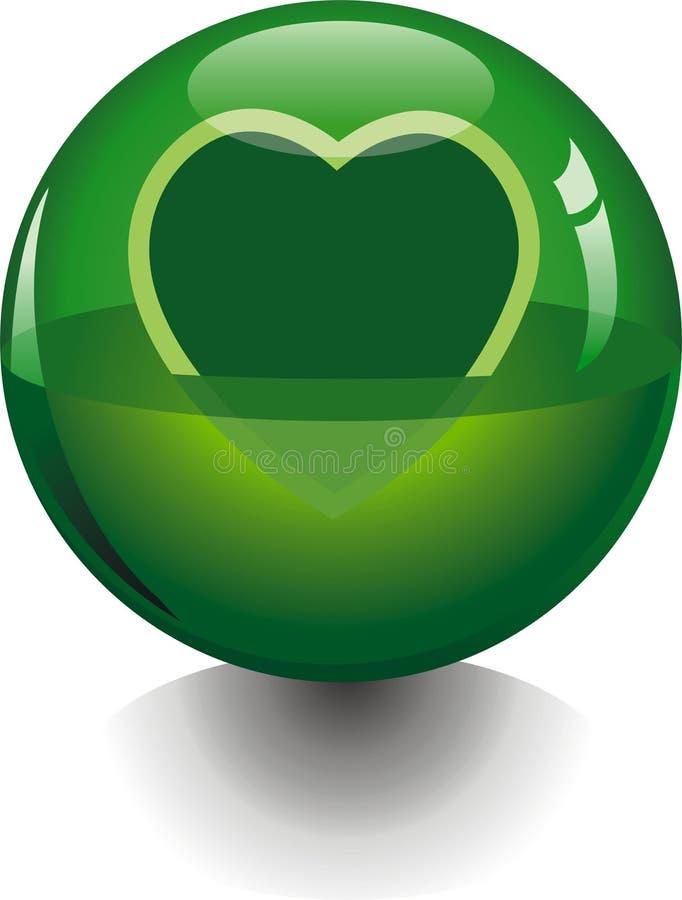 Sfera trasparente verde illustrazione vettoriale