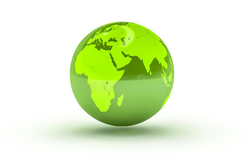 sfera verde del globo royalty illustrazione gratis