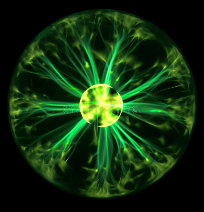 Sfera verde del plasma fotografia stock