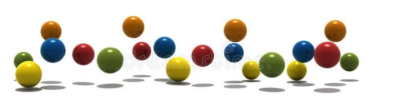 sfere 3d illustrazione vettoriale