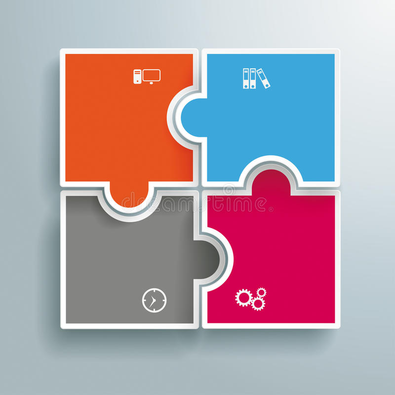 Sfere colorate Infographic di puzzle illustrazione di stock
