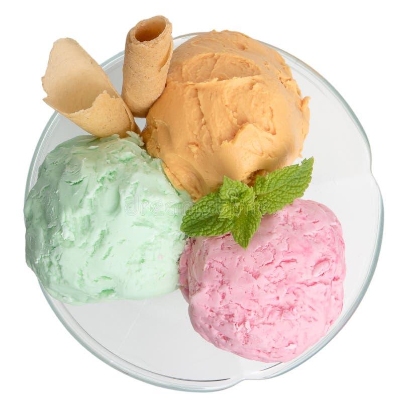 Sfere del gelato fotografia stock