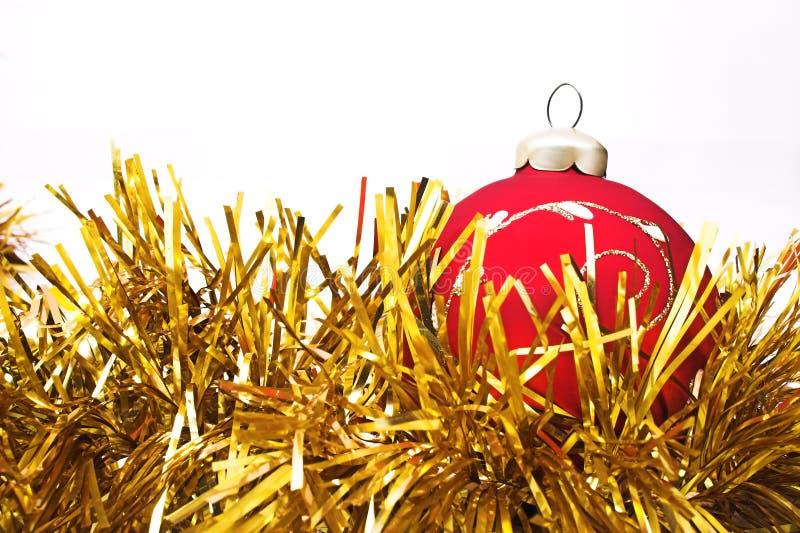 sfere delle decorazioni dell'Natale-albero fotografia stock