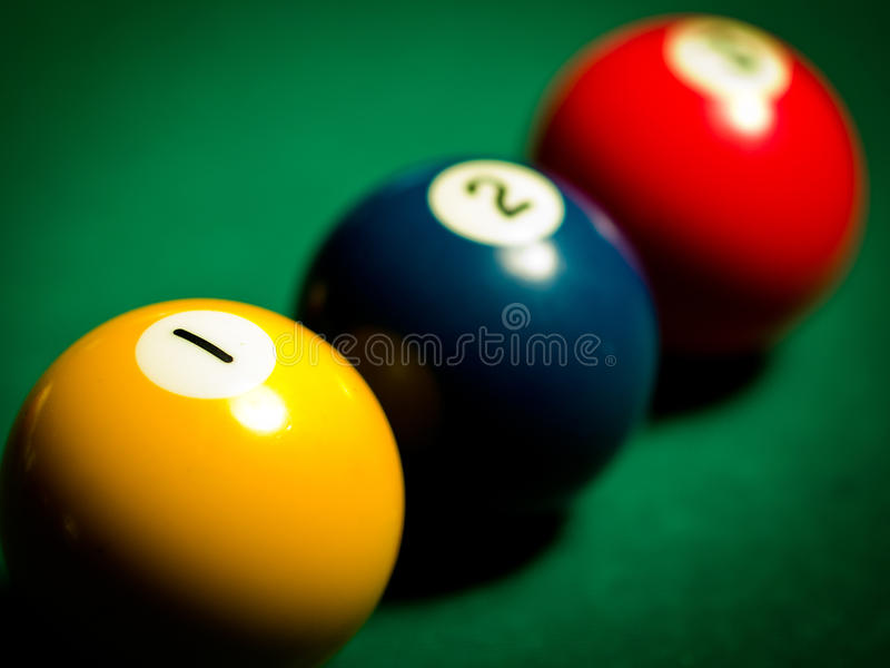 Sfere dello snooker fotografia stock