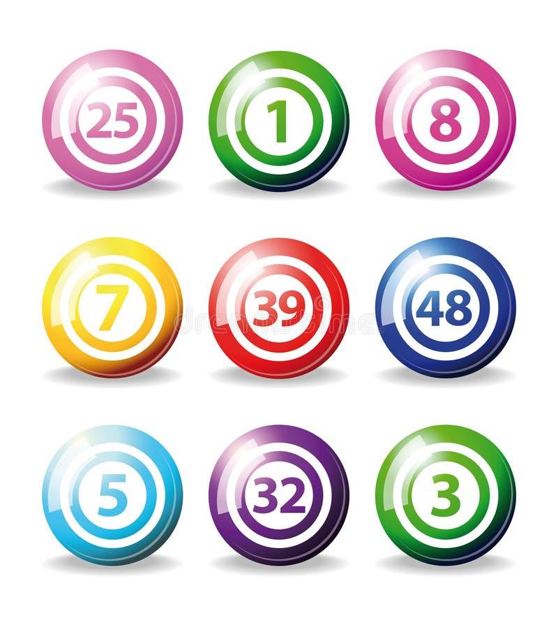 Sfere di Bingo illustrazione vettoriale