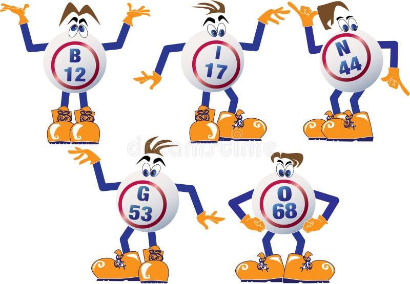 Sfere di Bingo illustrazione di stock