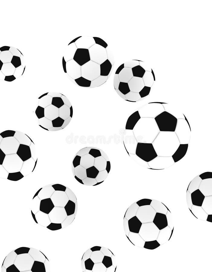 Sfere di calcio illustrazione vettoriale