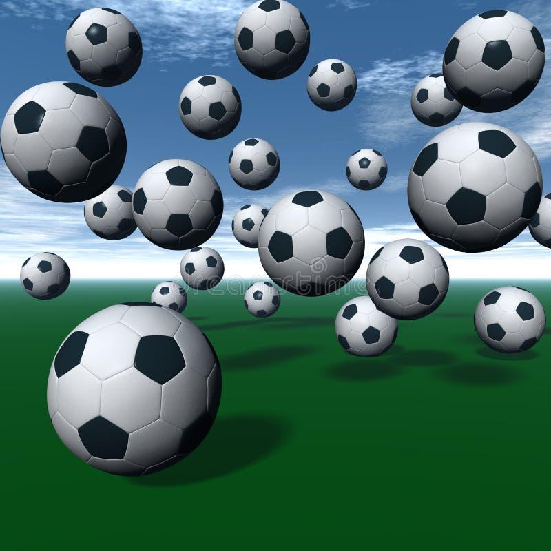 Sfere di calcio royalty illustrazione gratis