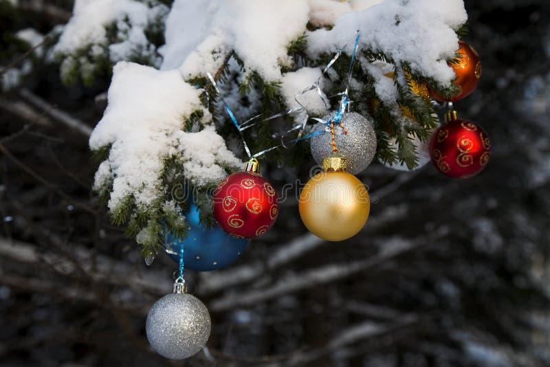 Sfere di Christmass fotografia stock libera da diritti