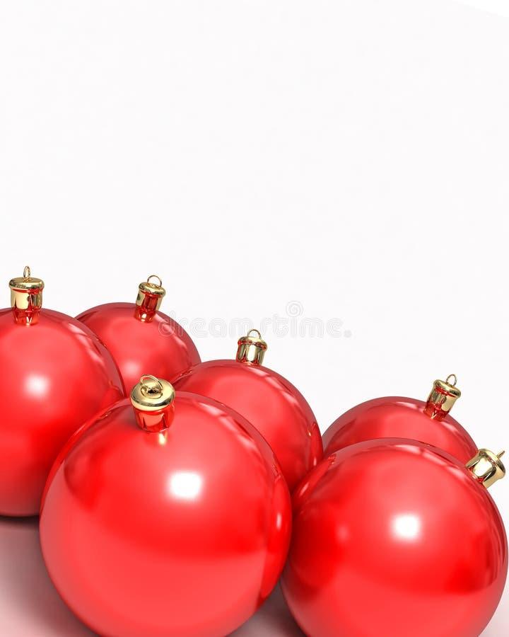 Sfere di Christmass su bianco fotografie stock libere da diritti