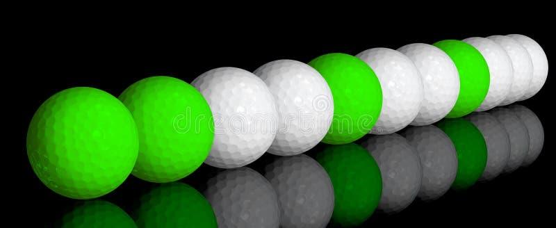 Sfere di golf royalty illustrazione gratis