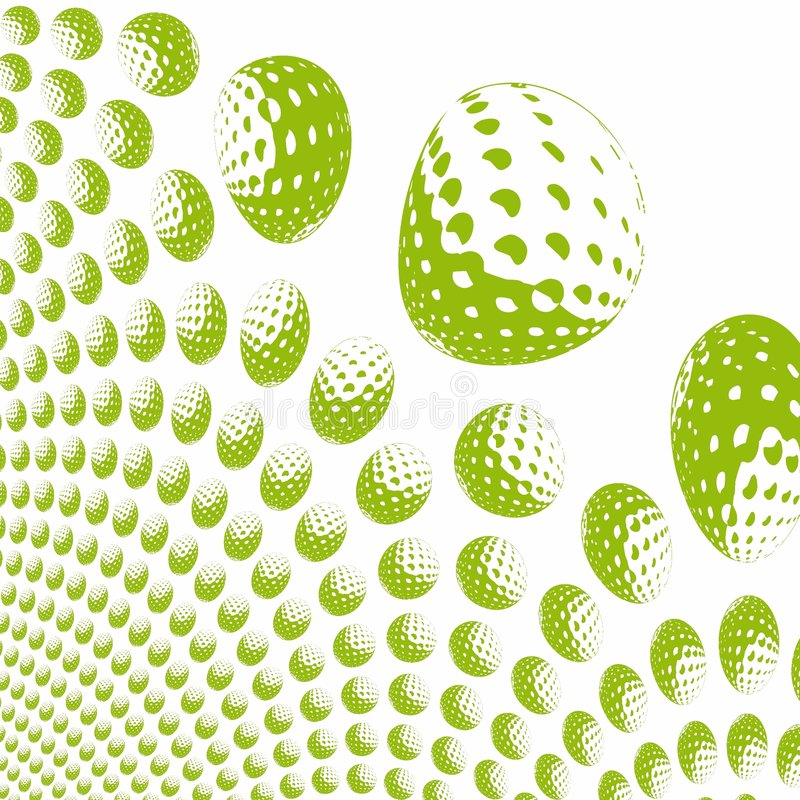 Sfere di golf colorate illustrazione di stock