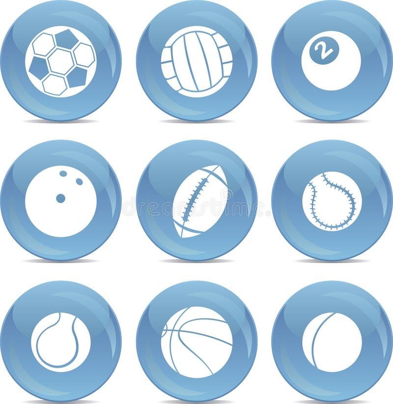 Sfere di sport delle icone nel vettore illustrazione vettoriale