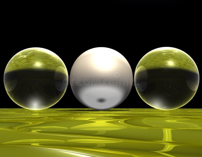 Sfere di vetro illustrazione di stock