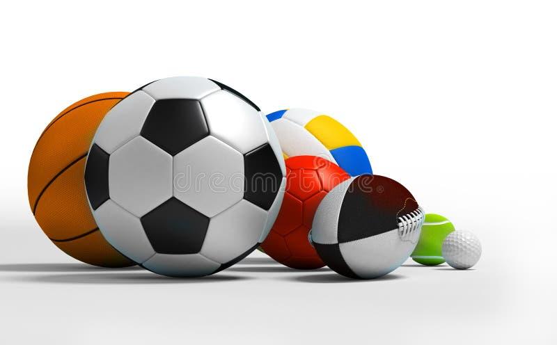 Sfere differenti di sport illustrazione vettoriale