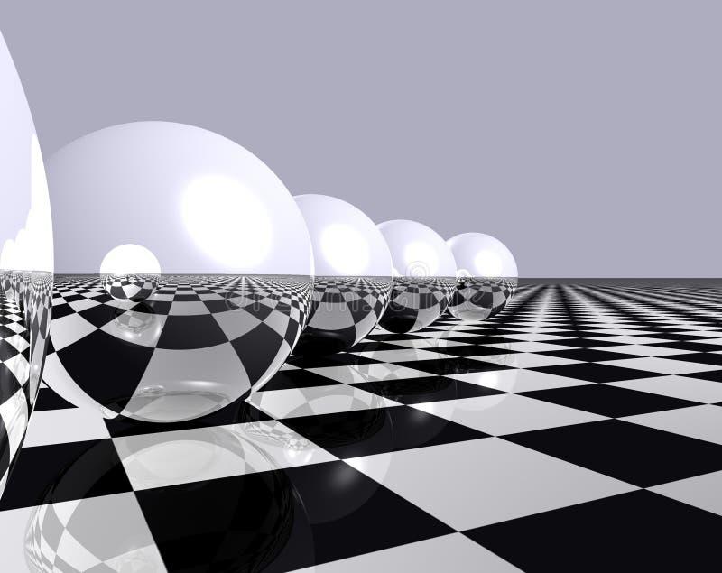 Sfere e scacchi 2 illustrazione vettoriale