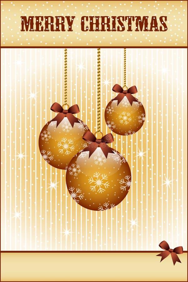 Sfere Ed Archi Di Natale Dell Oro Fotografia Stock