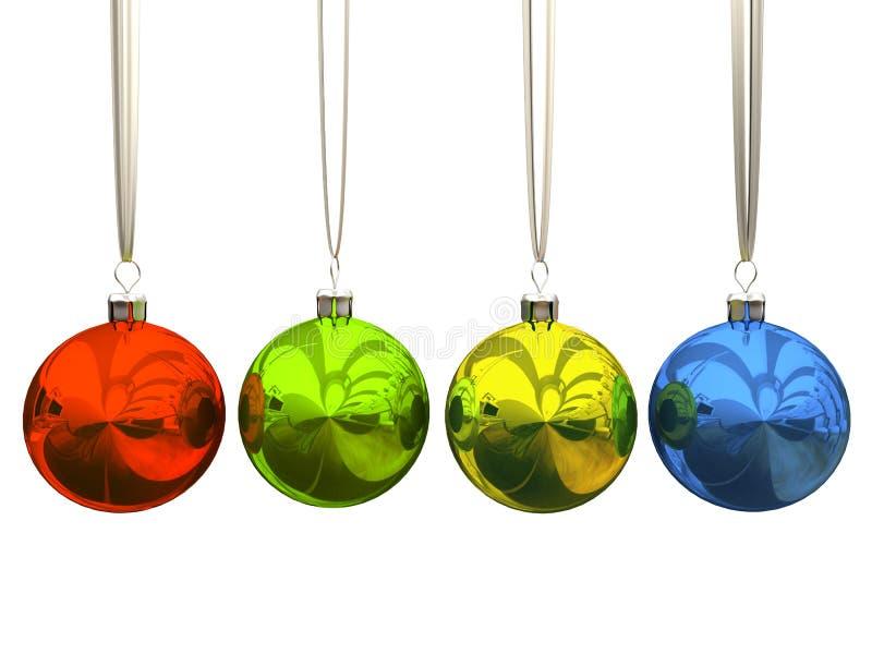 Sfere multicolori di natale illustrazione di stock