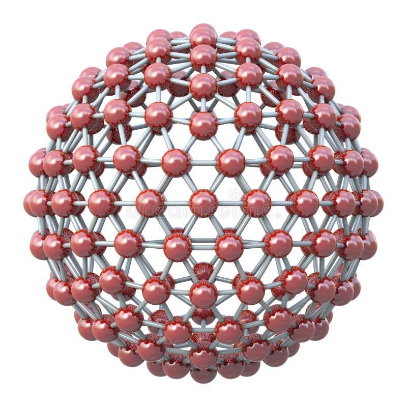 Sferisch moleculair net stock illustratie