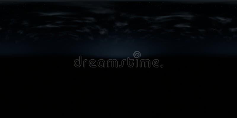Sferisch panorama, kaart van hoge resolutie de milieu 360 graad HDRI, 3d illustratieachtergrond, 8k, voor equirectangular project vector illustratie