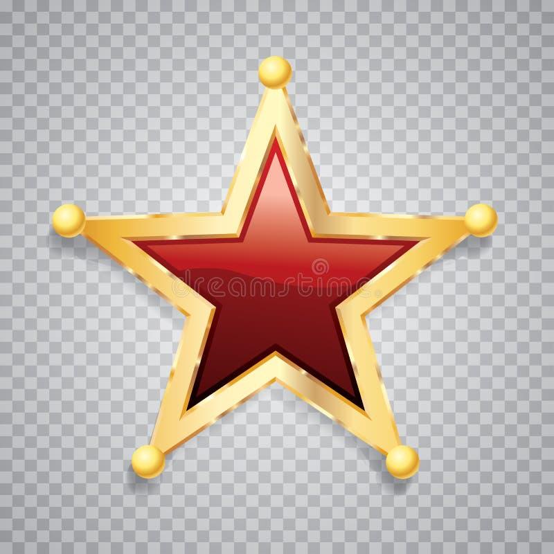 Sfery czerwieni złocista gwiazda ilustracji