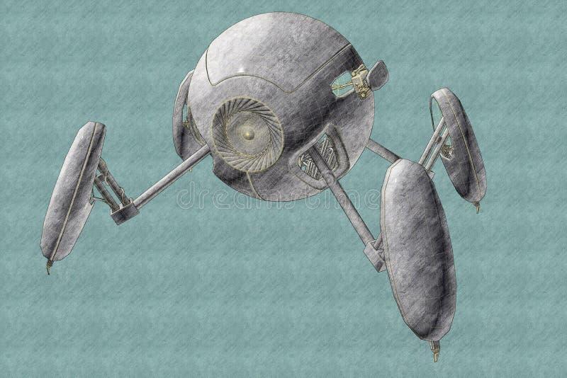 Sfery kształtny droid ilustracja wektor