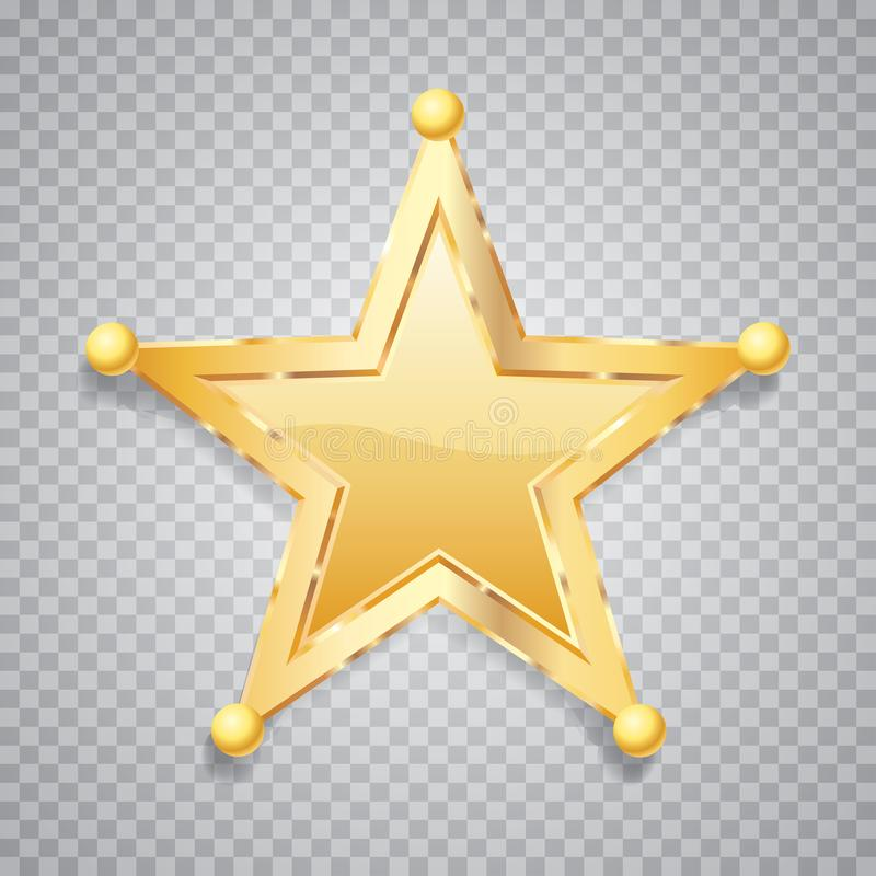 Sfery złota pięć gwiazda ilustracja wektor
