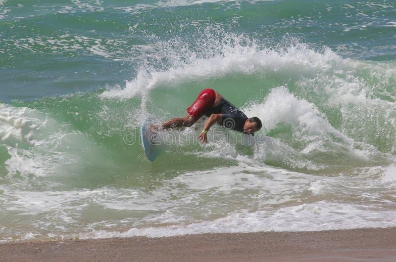 Sfida del Waterman - scremando - Costa di Jaime fotografia stock
